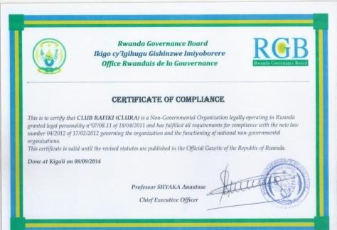 certificateCLUB RAFIKI RGB